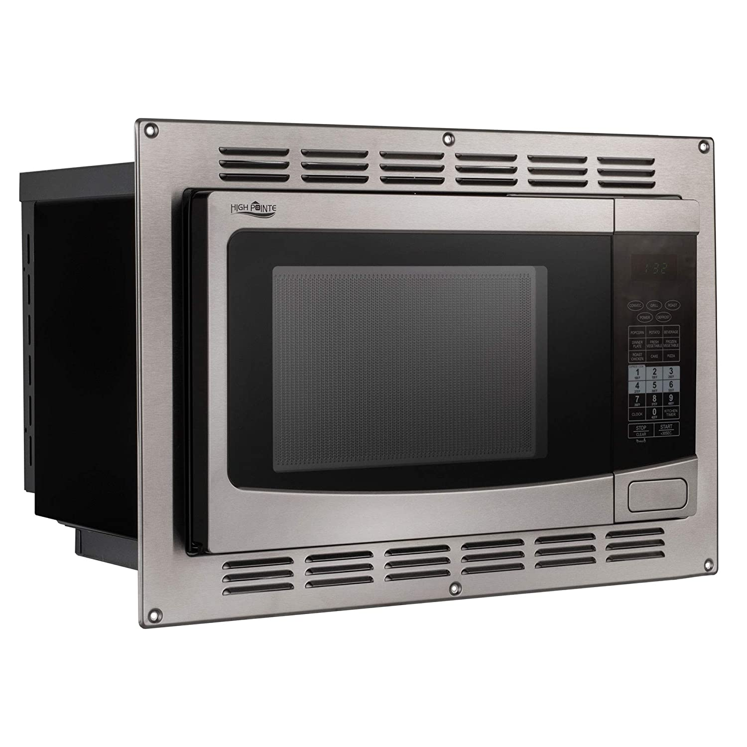 RecPro RV Convection Microwave Stainless Steel 1.1 cu. ft. | 120V | Microwave | Appliances