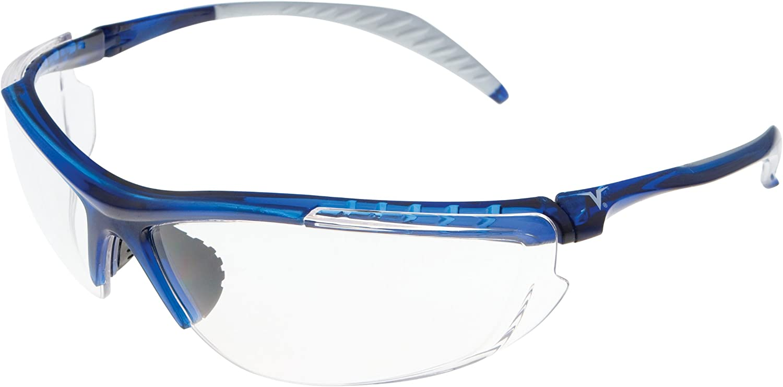Encon Wraparound Veratti 307 Safety Glasses, Clear Lens, Translucent Blue Frame (Pack of 1)
