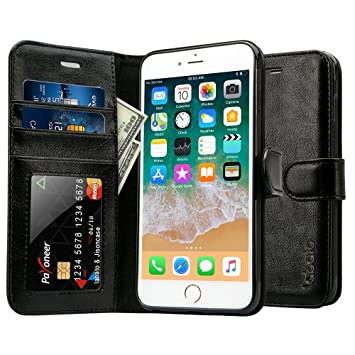 coque iphone 8 plus rabattable or