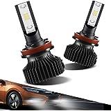 Marsauto H11/H8/H9 LED Fog Light Bulbs Conversion Kit, Super Bright Fog Lamp Holagen Replacement, Xenon White 6000K (2-Pack)