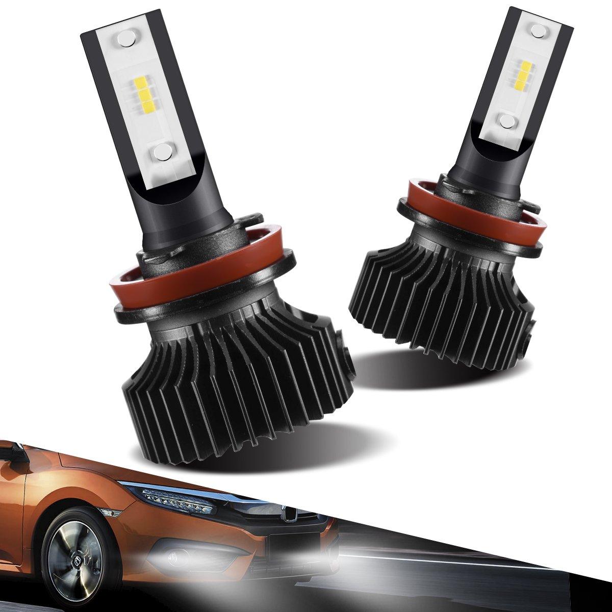 H11/H8/H9/H16 LED Fog Light Bulbs Conversion Kit, Marsauto Super Bright Fog Lamp Halogen Replacement, Xenon White 6000K (2-Pack)