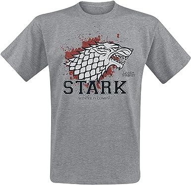 Game Of Thrones Juego de Tronos House Stark - Stark The Fighter Camiseta Gris/Melé M: Amazon.es: Ropa y accesorios