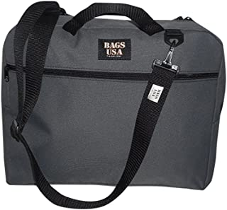 product image for Briefcase with Full Outside Pocket and Two Inside Pocket,Soft Briefcase, Made in U.s.a. (Gray)