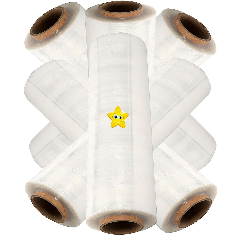 20mu 6 x rolls CLEAR Pallet Stretch Shrink Wrap 500mm x 300m