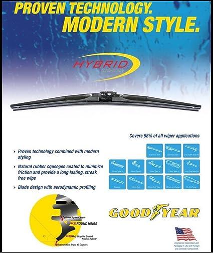 Goodyear Windshield Wipers >> Goodyear 770 22 Hybrid Wiper Blade 22 1 Pack