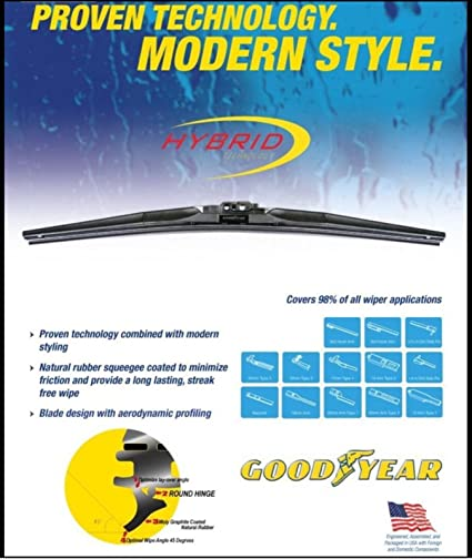 Goodyear Windshield Wipers >> Goodyear 770 19 Hybrid Wiper Blade 19 1 Pack