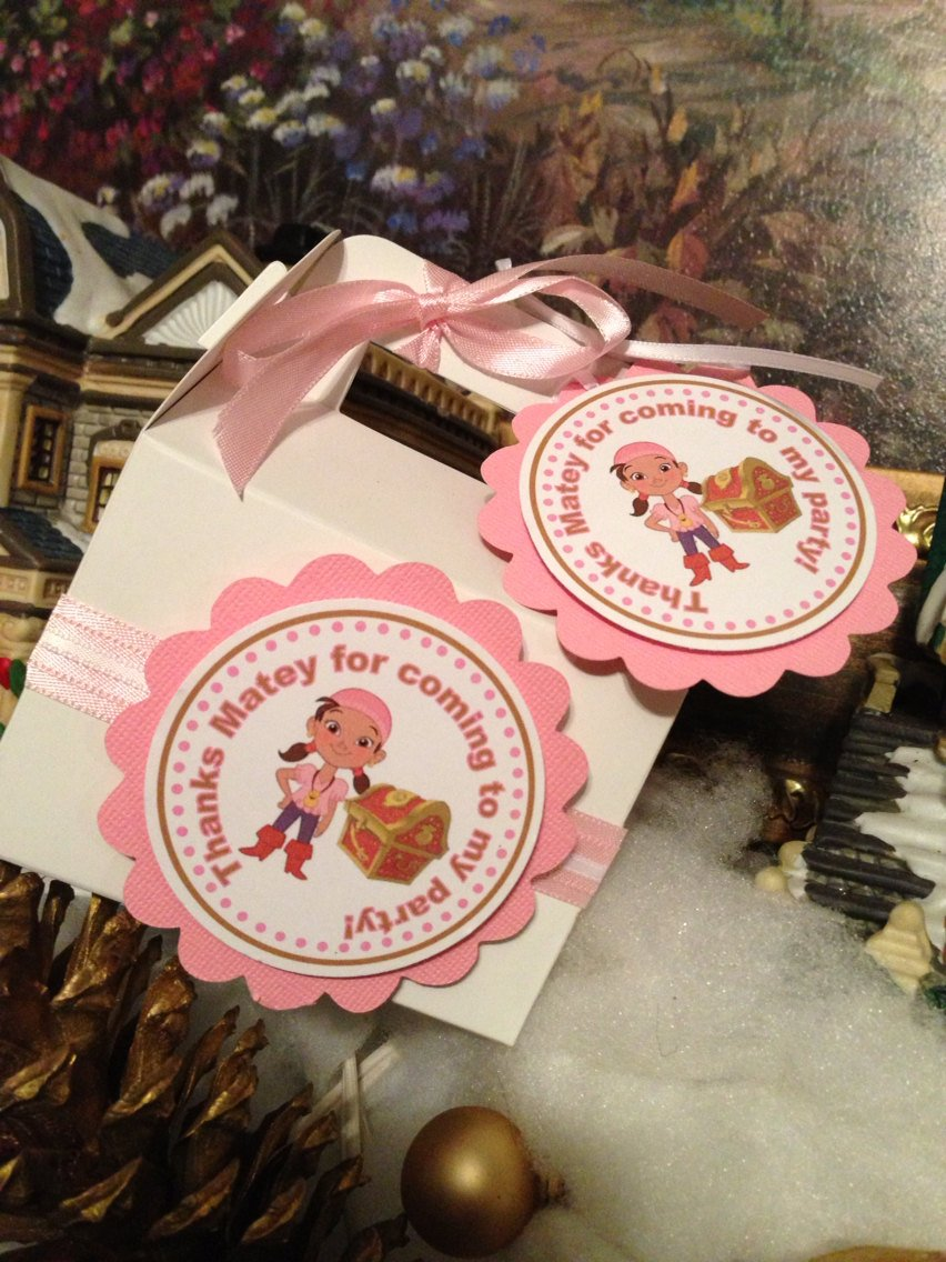 Amazon.com: New...Pirate Izzy Inspired Favor Tags: Handmade