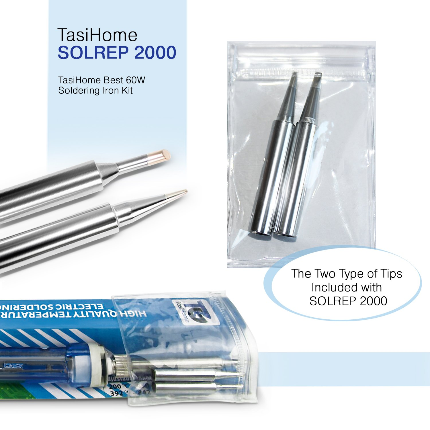 TasiHome 110 V 60W Soldering Iron Kit With Temperature Adjustment For Reliable Electronic Circuit Repairs By Eliminating Component Damage. Robust Electrical And Jewelry Repairs by TasiHome (Image #7)