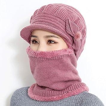 LJY hat Sombrero Mujer Invierno Medio y Viejo Envejecido Sombrero de Punto Abuela Anciana Grueso Cálido