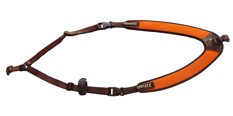 Niggeloh 1411/00023/Titan II Sac /à Dos Fusil Sangle Universel Marron//Orange