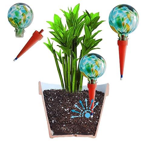 Plantpal 2 Sfere Per Irrigazione Grandi Decorative In Vetro Sistema Di Irrigazione Automatico Funziona Davvero Perfetto Per Piante