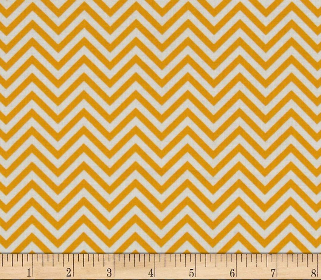 Quilting Fabric - Remix Yellow Chevron- Robert Kaufman - Per Yard