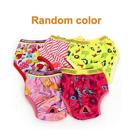 Ironheel Perro Mascota Hembra fisiológica Braga de higiene Pantalones menstruales Puro Suave de algodón Pantalones Cortos