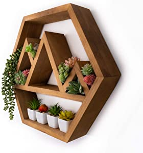 Hexagonal Mountain Shelves |Hexagon Shelves |Mountain Shelf |Crystal Shelf |Crystal Display Shelf |Mountain Decor |Cabin Decor |Hexagon Floating Shelves |Fully Assembled | Honeycomb Shelves