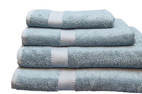 Green Bear Lujosa toalla para baño y cabello de bambú (120x90 cm) - naturalmente