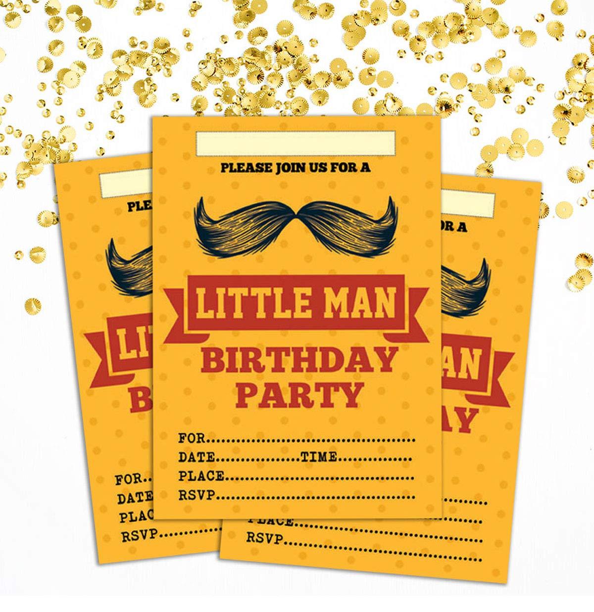 Amazon Com Darling Souvenir Orange Birthday Invitation Card