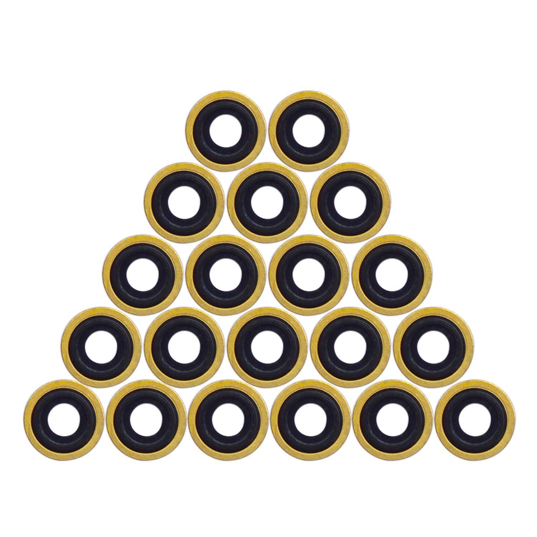 Pack of 25 SP Medical Oxygen Regulator Brass Yoke Washer Seals