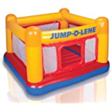 """Intex Inflatable Jump-O-Lene Playhouse Trampoline Bounce House for Kids Ages 3-6 Pool Red/Yellow, 68-1/2"""" L x 68-1/2"""" W x 44"""""""