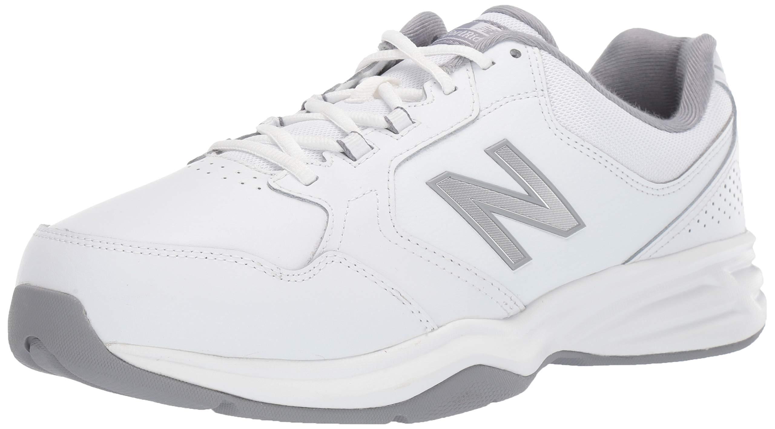 New Balance Men's 411v1 Running Shoe, White/Silver Mink, 10.5 2E US by New Balance