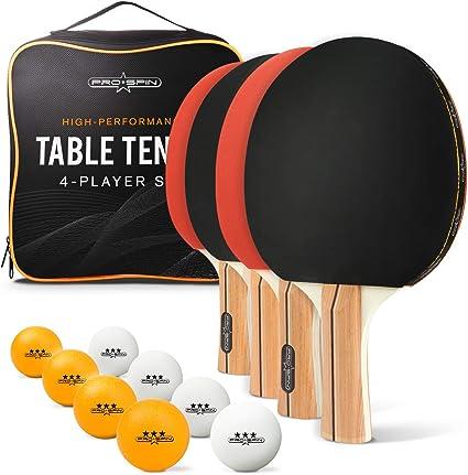 ProSpin – Juego de Tenis de Mesa (Incluye 4 Premium, 8 Caso de ...