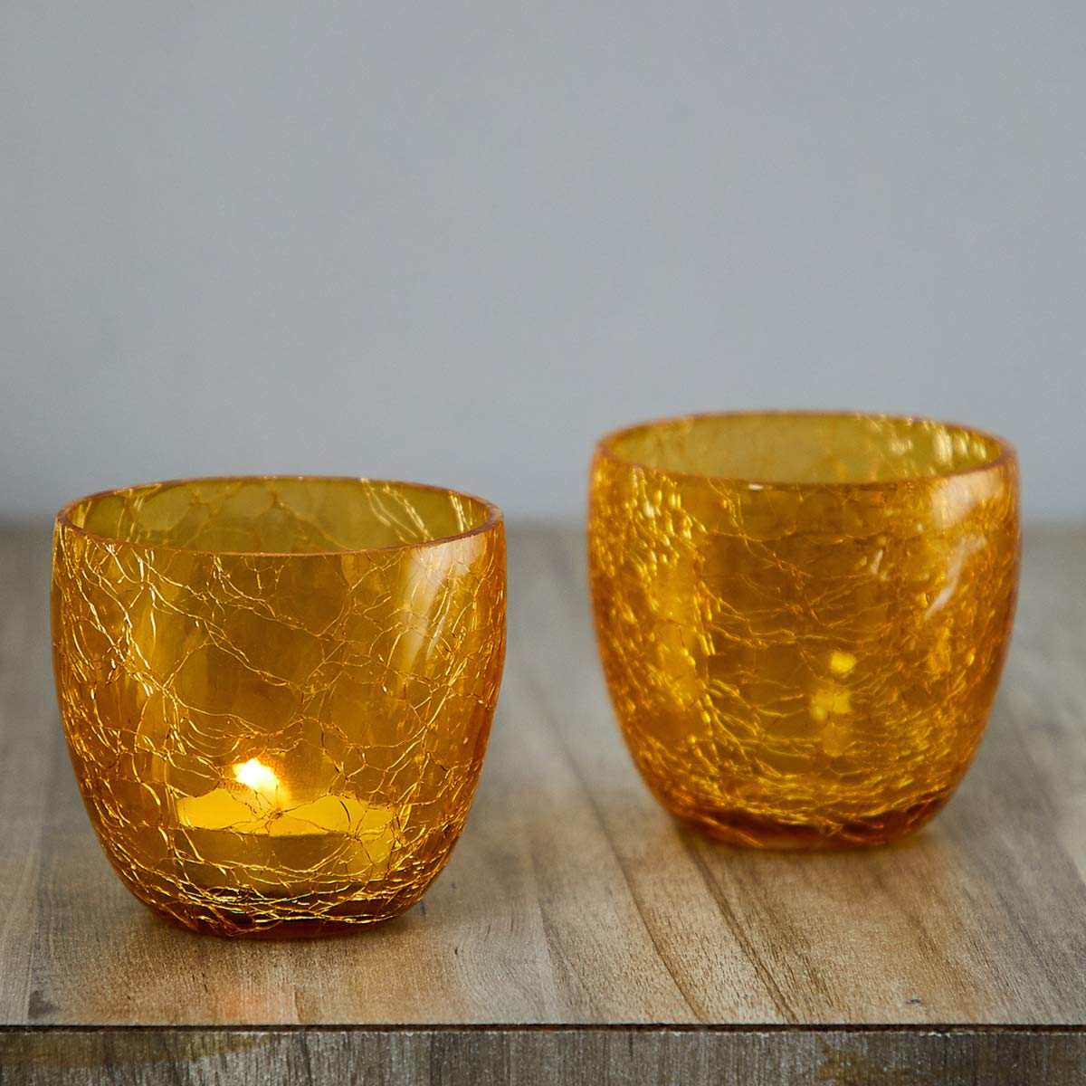 Buy Home Centre Helios Crackle Votive Holder Set Of 2 Online At Low Prices In India Amazon In