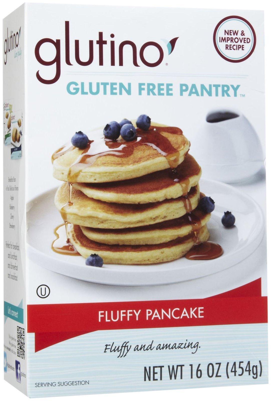 GLUTINO Brown Rice Pancake And Waffle Mix, 16 OZ