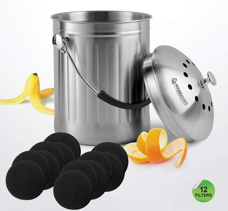 YARNOW 12Pcs Filtres de Bac /à Compost Filtres /à Compost de Cuisine /à Charbon Actif Extra /Épais Filtres de Remplacement de Rechange Filtres /à Charbon Absorbant Les Odeurs Carr/és
