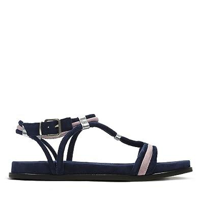 Clarks Agean Sun Suede Sandals in Standard Fit Size 6½ Blue  Amazon ...