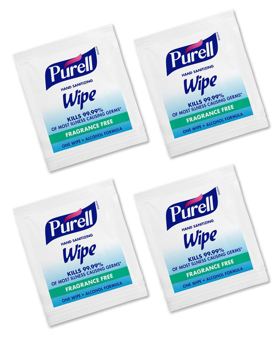 SLTHAAJ Hand Sanitizing Alcohol Wipes Portable Individually Wrapped Wipes 4 Packs (300 Wipes)