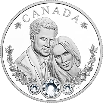 Meghan Markle 1oz $1 Silver Proof Coin 2018 Royal Wedding Prince Henry Ms