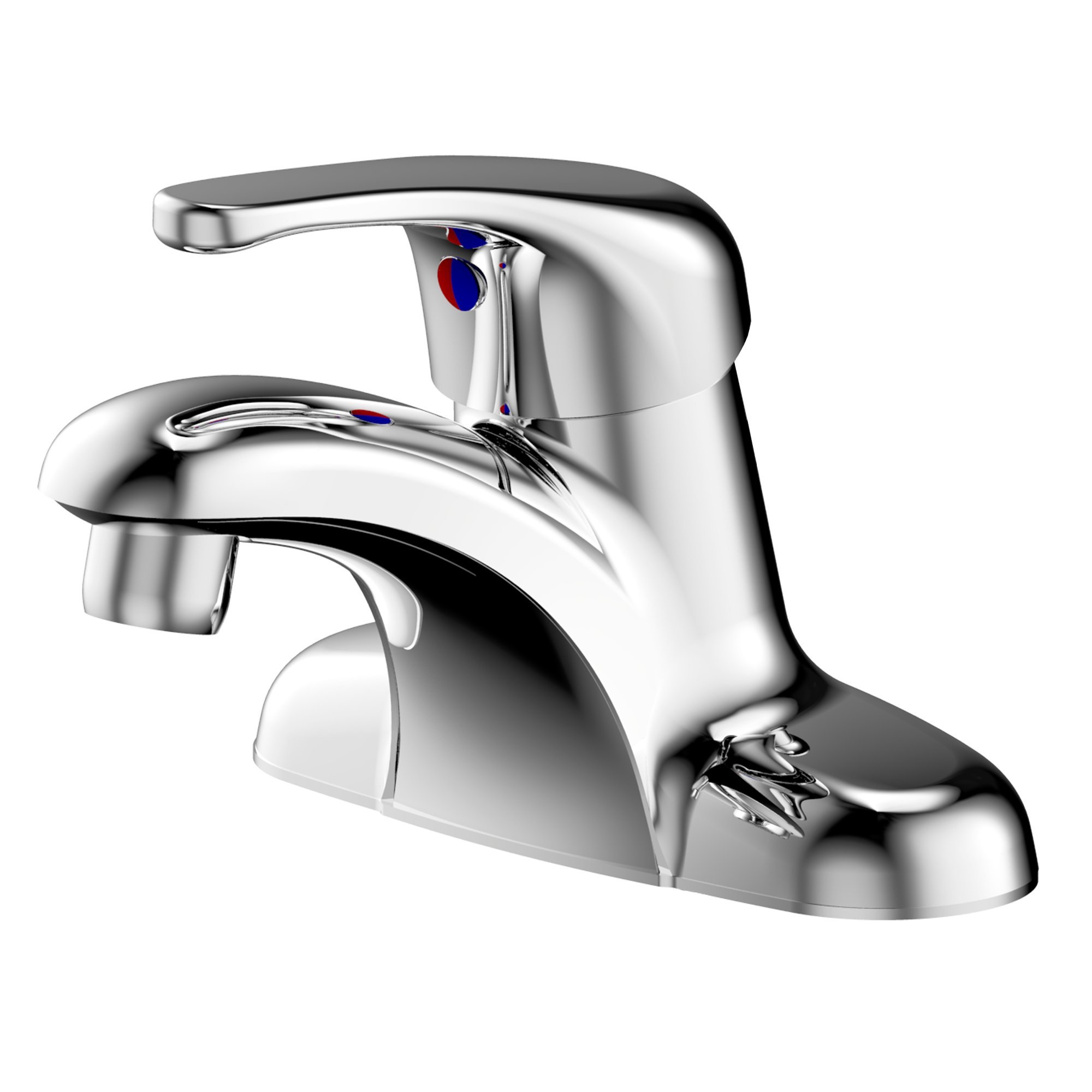 ENZO RODI Bathroom Faucet, Full-Metal Single-Handle 4 inch Centerset Bathroom Sink Faucet, without Drain Assembly, Chrome, ERF1214255CP-10 by ENZO RODI
