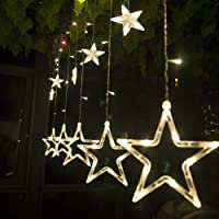 Salcar luci colorate di Natale del LED 2 * 1 metro 12 stelle