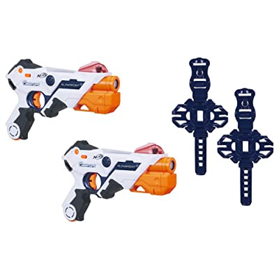 AlphaPoint Nerf Laser Ops Pro Toy Blasters - Includes 2 Blasters & 2 Armbands - Light & Sound FX - Health & Ammo Indicators - for Kids, Teens & Adults: Toys & Games