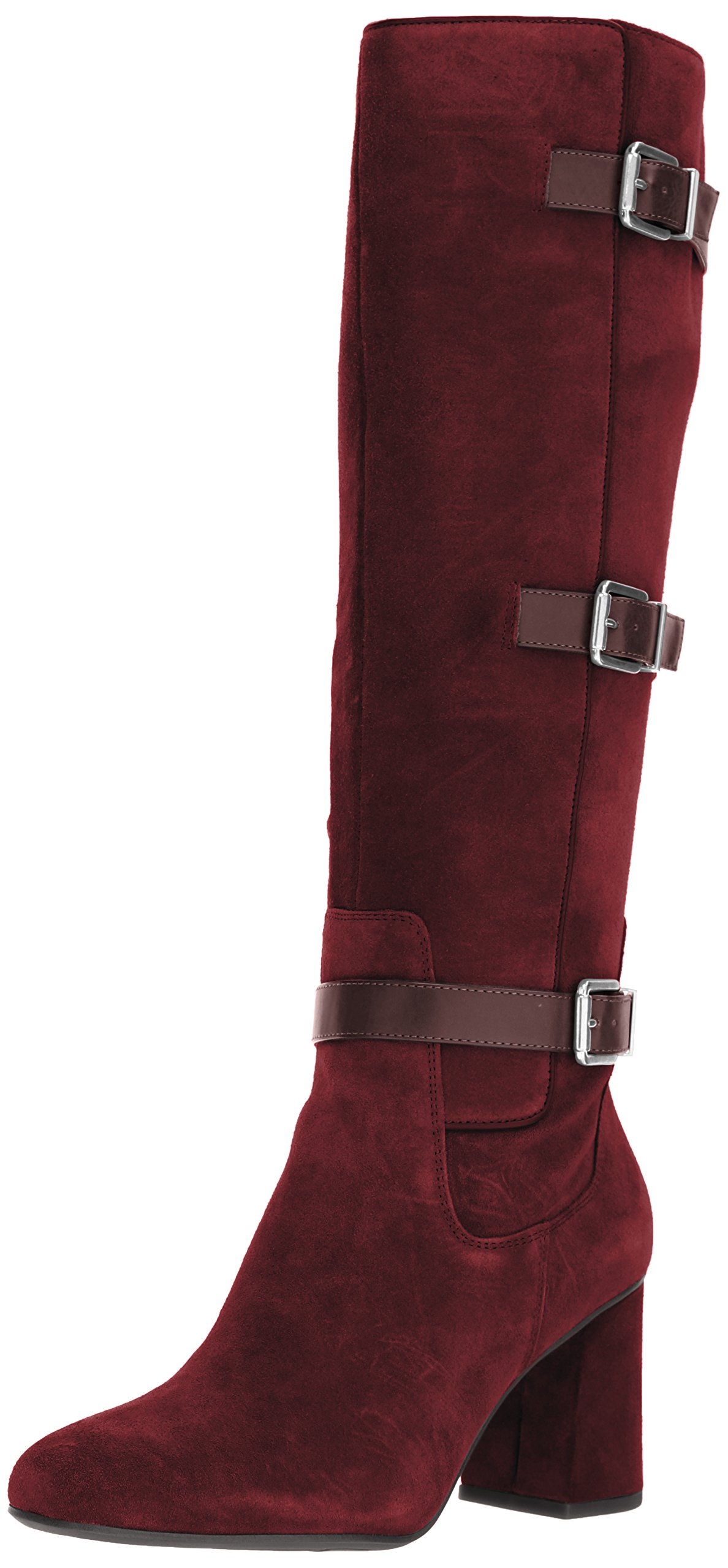 Franco Sarto Women's Knoll Knee High Boot, Augergine, 6.5 Medium US