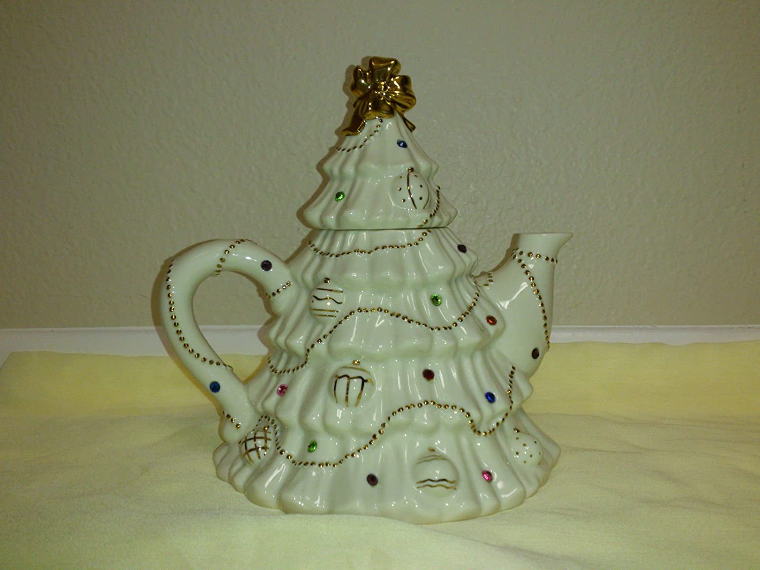 Amazon.com : Lenox The Jeweled Christmas Tree Tea Pot : Everything Else