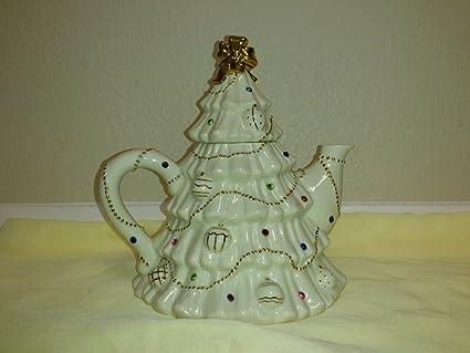 lenox the jeweled christmas tree tea pot - Jeweled Christmas Trees