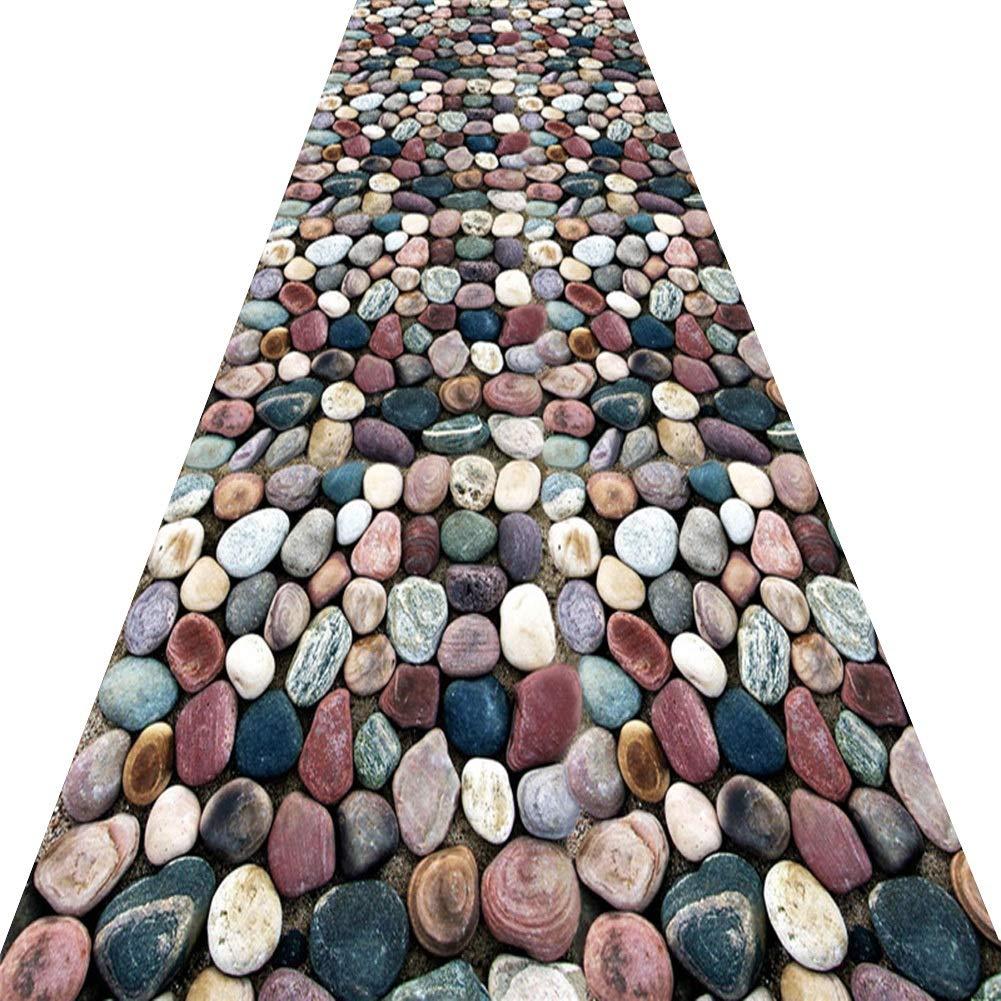 KKCF 廊下のカーペット滑り止め切れる耐摩耗性石の道カーペット 、複数のサイズ (色 : A, サイズ さいず : 1x5m) B07S67ZCR4 A 1x5m