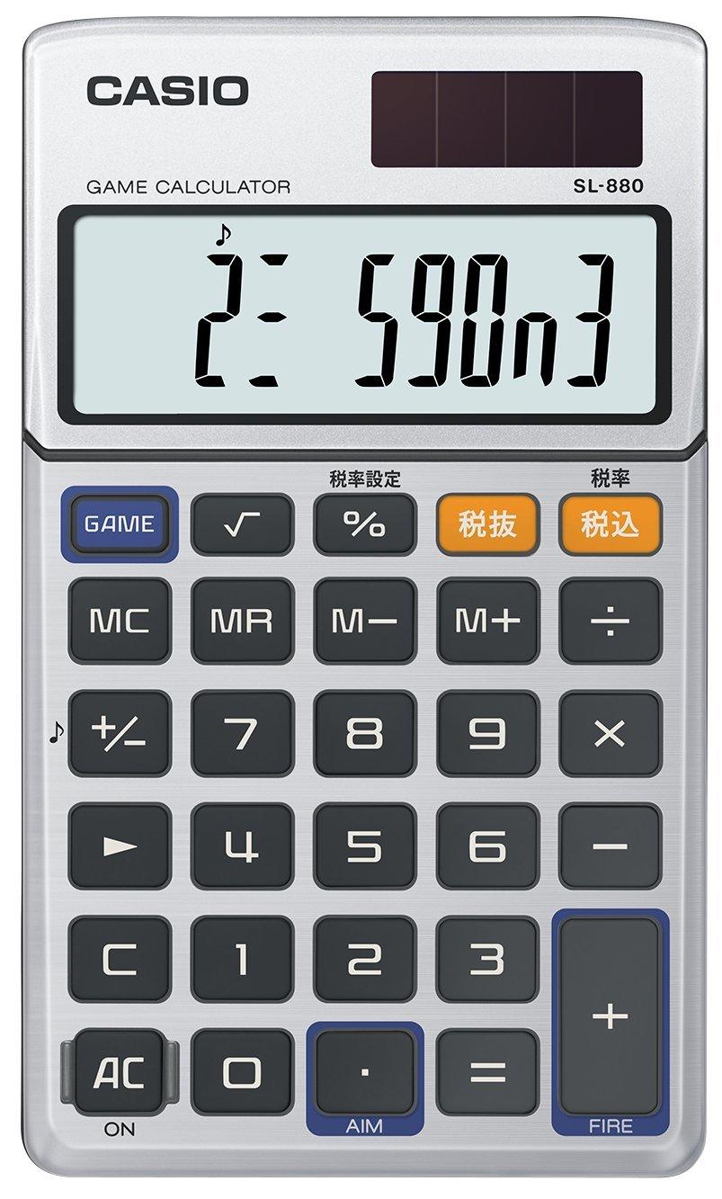 ゲーム電卓 手帳タイプ 10桁 SL-880-N