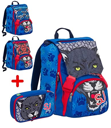 aba3e6460d Zaino scuola Seven sdoppiabile con astuccio schoolpack sj wild fashion  2018: Amazon.it: Cancelleria e prodotti per ufficio