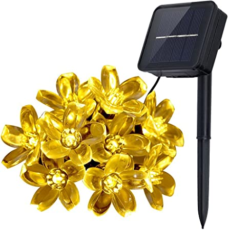 Solar 50 LED Blossom Flower Fairy String Light for Outdoor Garden Wedding Party