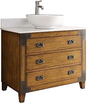 36 Asian Inspired All Wood Construction Akira Vessel Sink Bathroom Vanity Cf35535 Amazon Com