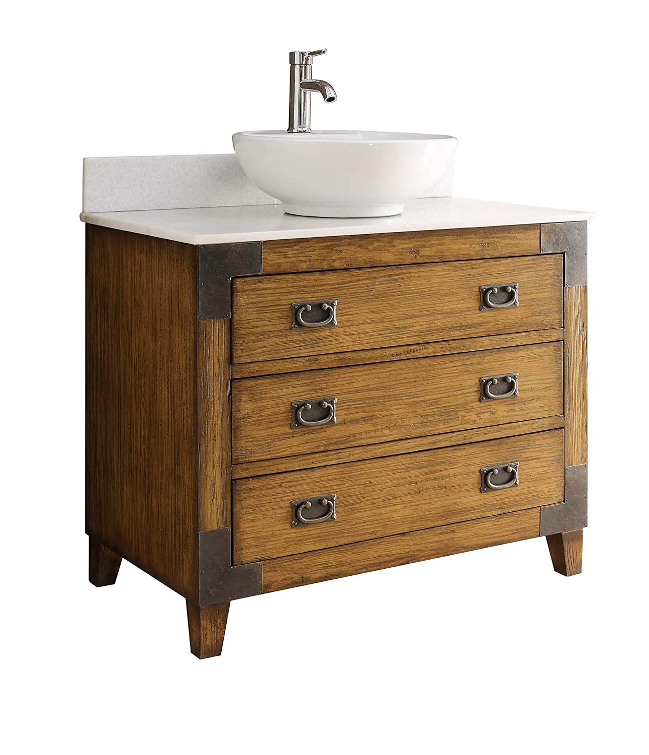 36 Asian-inspired All Wood Construction Akira Vessel Sink Bathroom vanity CF35535