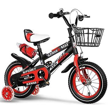 BAICHEN Bicicletas para niños Bicicleta para niños con Rueda de Entrenamiento 12/14/16