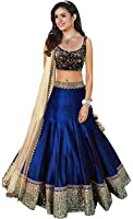Shoryam Fashion Women's Benglory Silk Lehenga Choli (SF_lehengha_143 _Blue _Free Size)