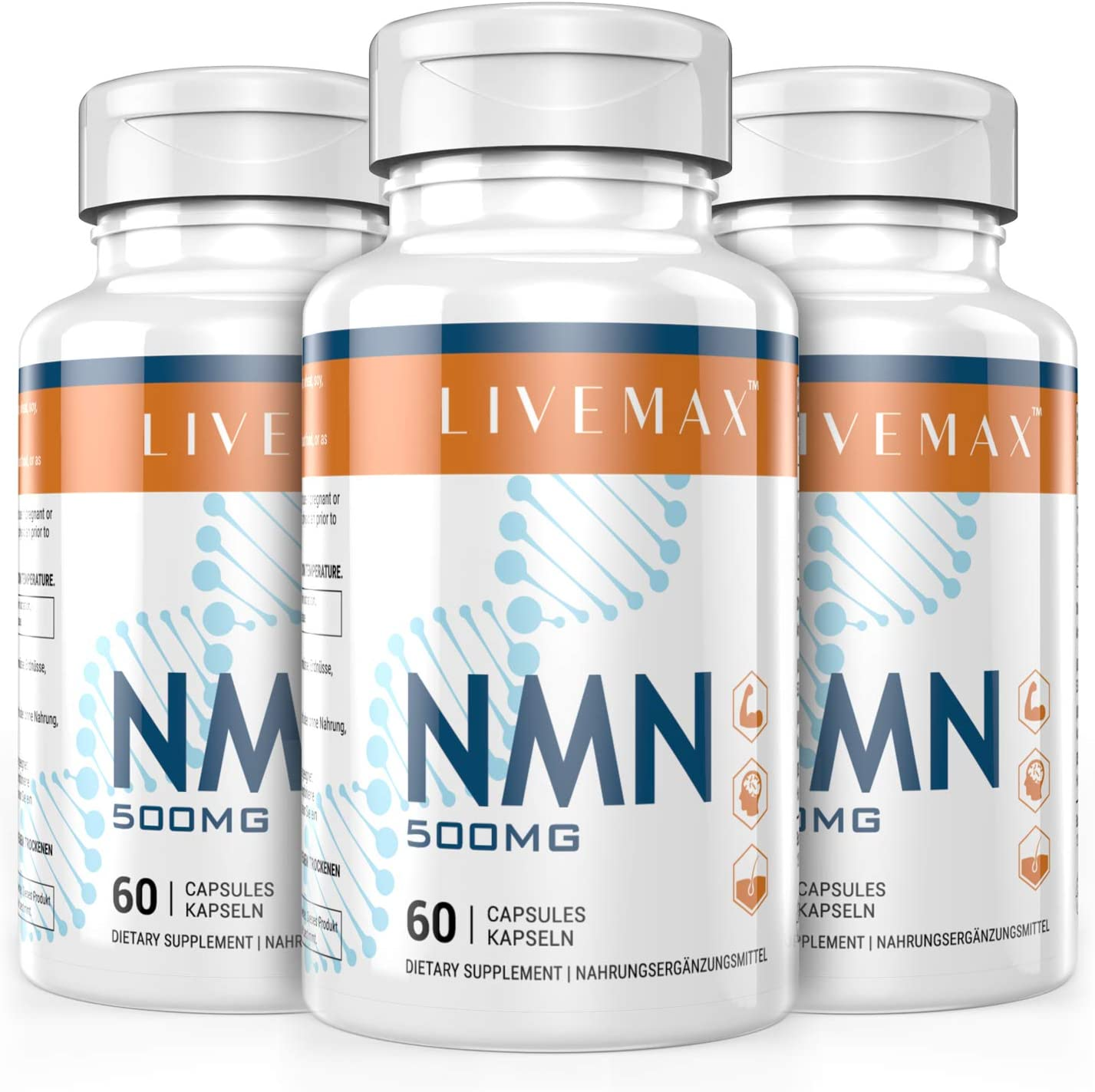 NMN Supplement 500mg (3 Packs)- Enhance Concentration, Boost Energy, Improve Memory & Clarity for Men & Women - Your Best NAD Booster