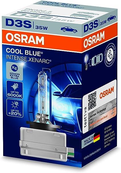 1 pezzo scatola di cartone Faro allo xeno OSRAM XENARC COOL BLUE INTENSE D3S HID 66340CBI lampada a scarica