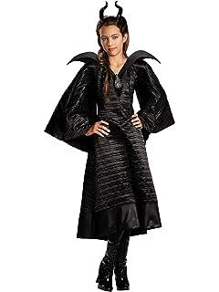 Amazon.com: Maléfica bautizo negro Gown Classic Niño Disfraz ...