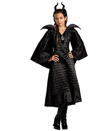 Maleficent Christening Black Gown Deluxe Costume For Girls