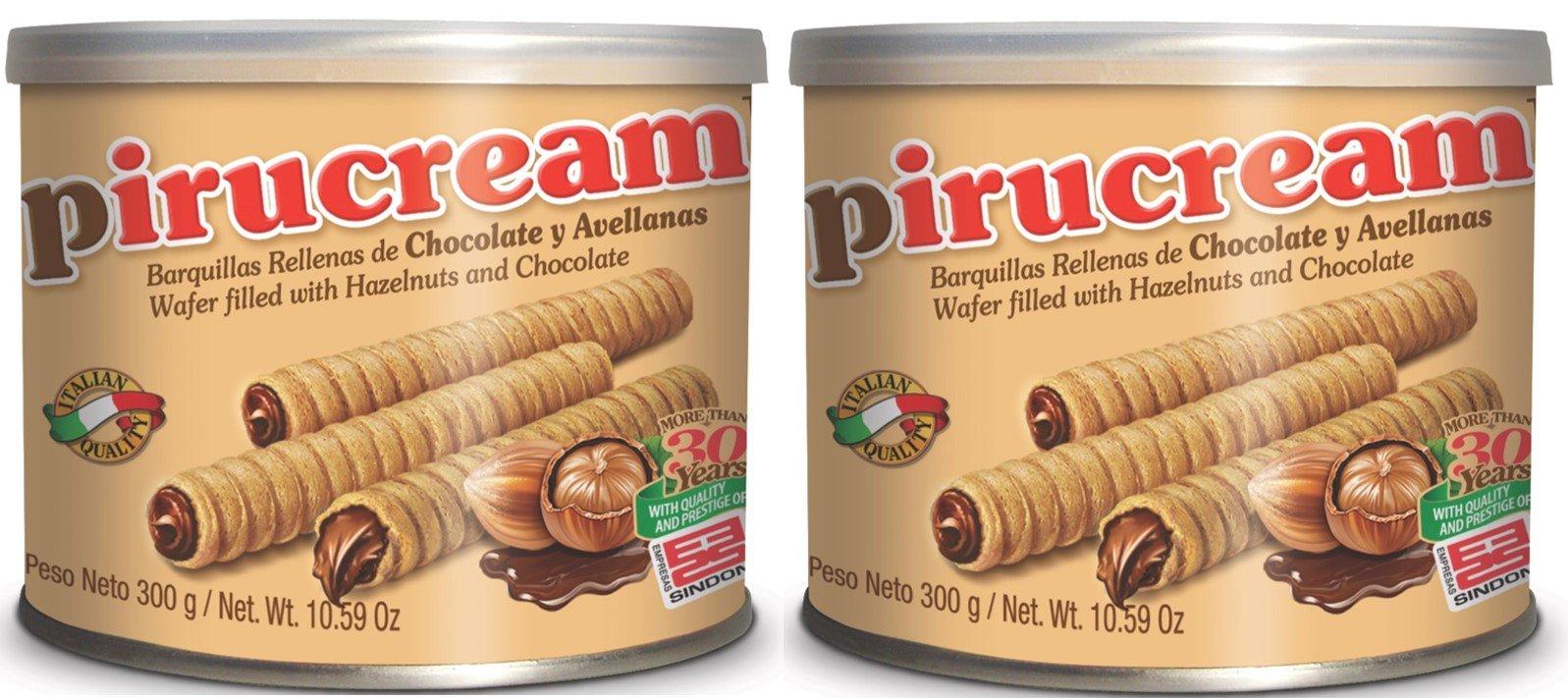 2 Pack Pirucream Chocolate and Hazelnut Wafer 10.59oz by Pirucream