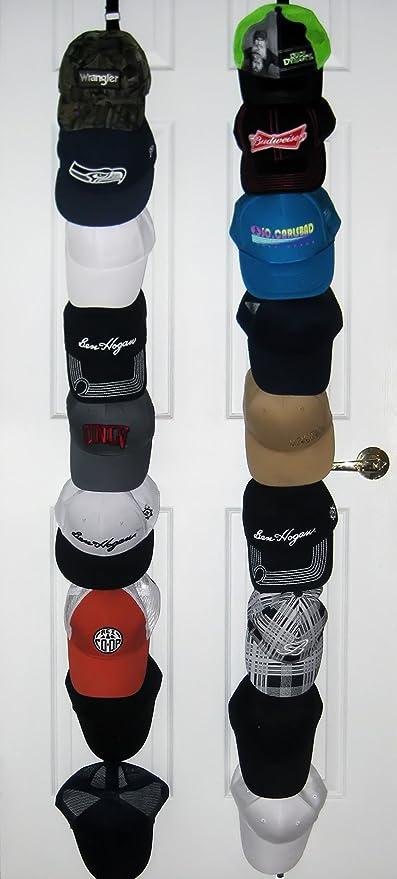 f144962e9c7 ActiveFit Apparel Sports Ballcap Hat Rack Storage. Stylish 2 x 9 Hat Racks  For Baseball